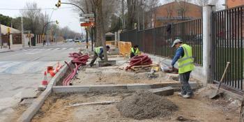 Arrancan las obras de acondicionamiento para peatones de la Calle Málaga