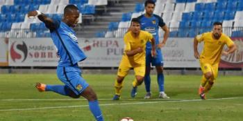 Cedric debuta con el CF. Fuenlabrada anotando su primer tanto