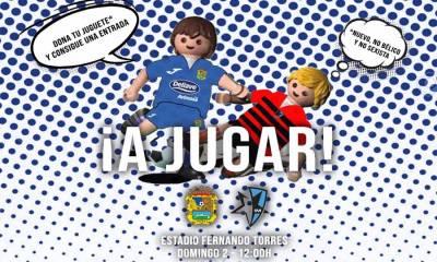 Un juguete por una entrada para ver al CF. Fuenlabrada en el Torres