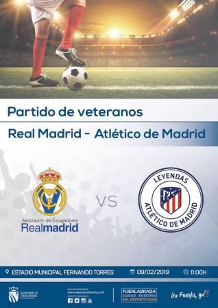 Partido de veteranos entre el Atlético de Madrid y el Real Madrid en Fuenlabrada