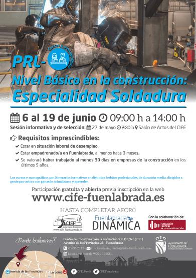 CIFE presenta el Curso de Soldadura para desempleados