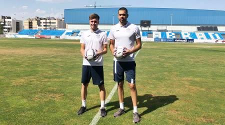 Pol Freixanet y Dani Fernández, presentados por el Fuenla