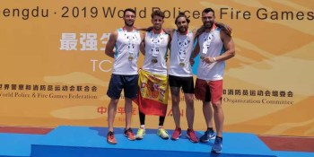 16 medallas para los bomberos de Fuenlabrada en los Juegos Mundiales