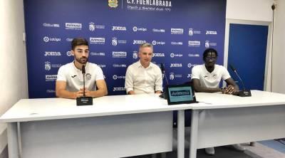 El CF. Fuenlabrada presenta a Pathé Ciss y José León