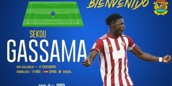 Sekou Gassama aterriza en el Fuenla cedido por el Valladolid