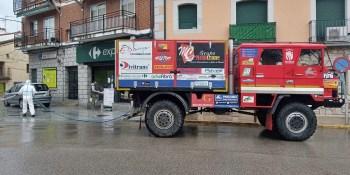 El Pegaso Rally Raid Team colabora con su Pegaso en labores de desinfección