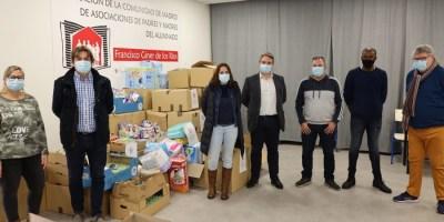 La Red Solidaria de Fuenlabrada entrega 3.500 kilos de productos de cuidado infantil