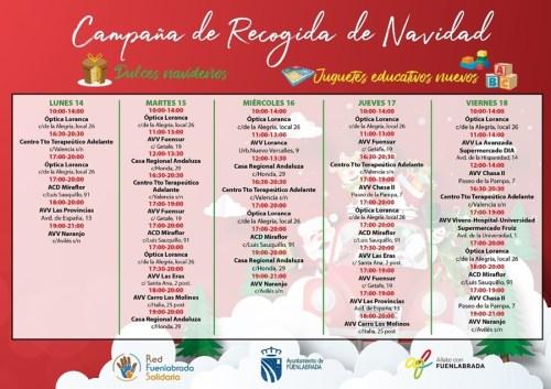 Campaña de recogida de juguetes y productos navideños de la Red Solidaria de Fuenlabrada