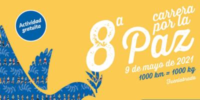 'Kilómetros por kilos de alimentos', lema de la VIII Carrera por la Paz