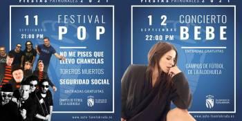 Confirmados los primeros conciertos de las Fiestas 2021