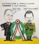 I lucani si sbarazzano dei soliti igNOTI Vignetta di Franco Loriso
