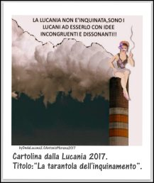 La Tarantola dell'inquinamento 2017 OLAM17