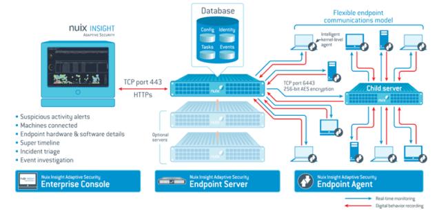 Arquitectura de Nuix Insight Adaptive Security