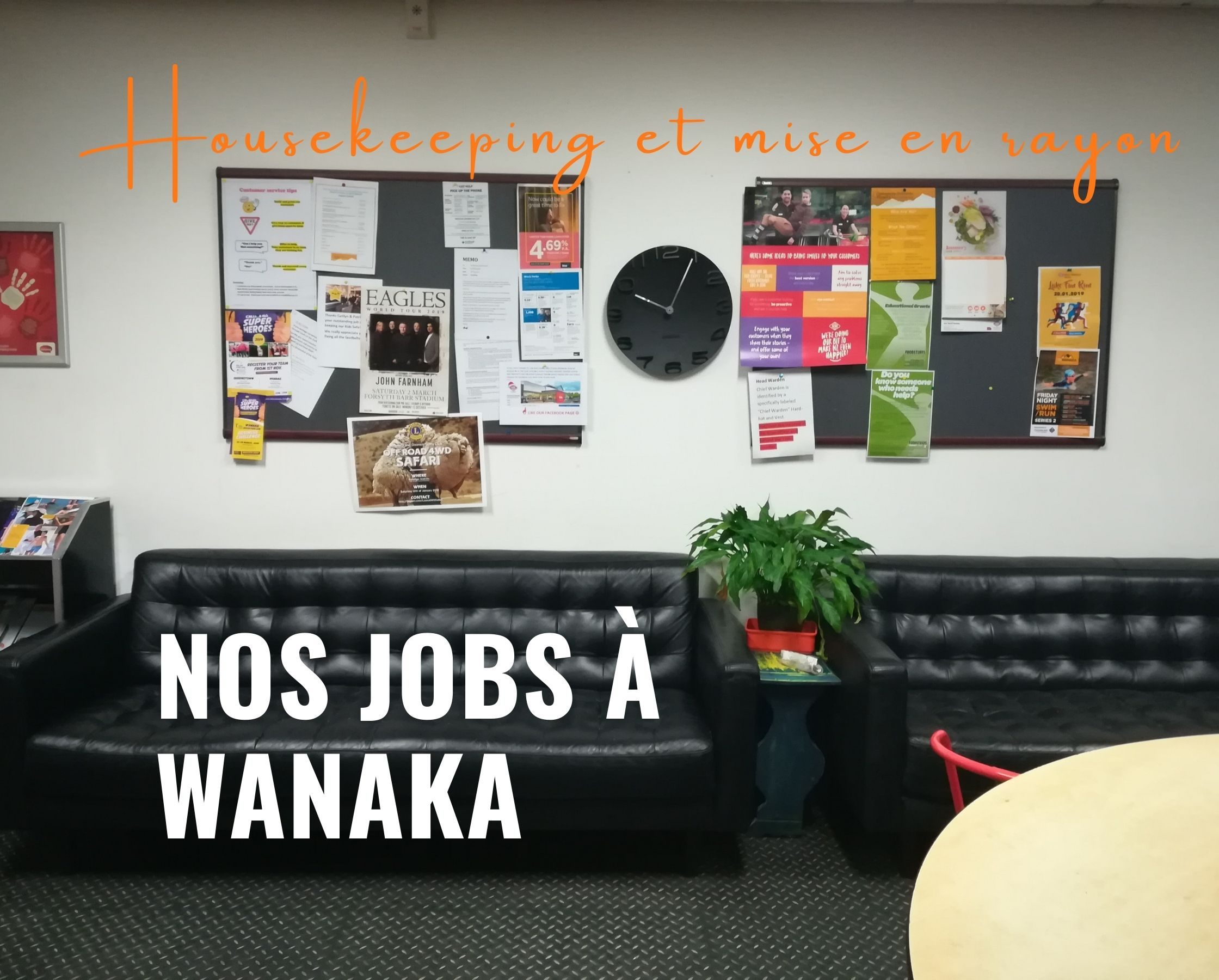 Housekeeping et mise en rayon à New World : nos jobs à Wanaka