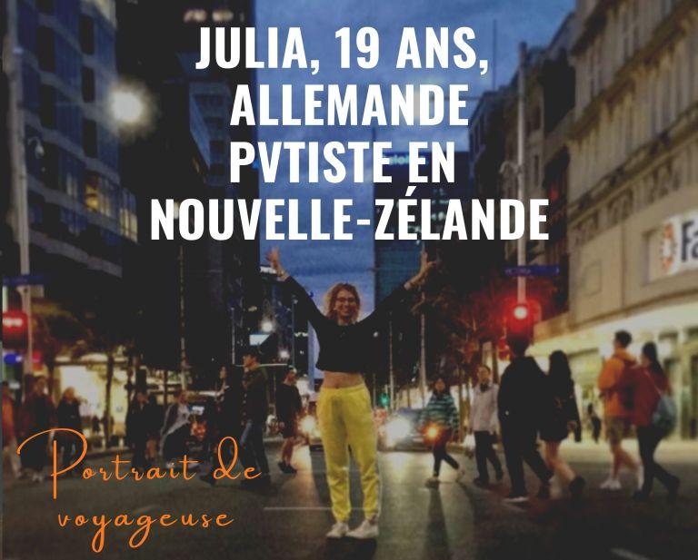 Portrait de voyageuse : Julia, Allemande, 19 ans