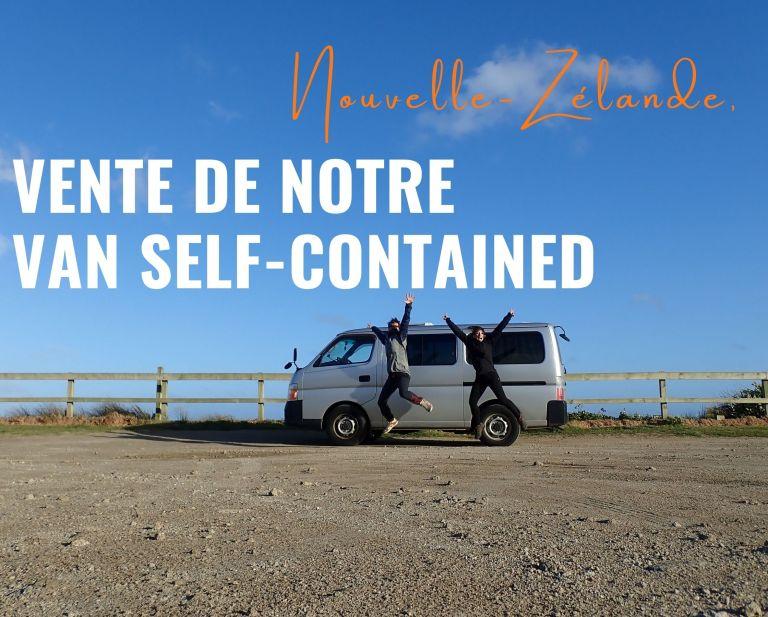 Vente de notre van self-contained