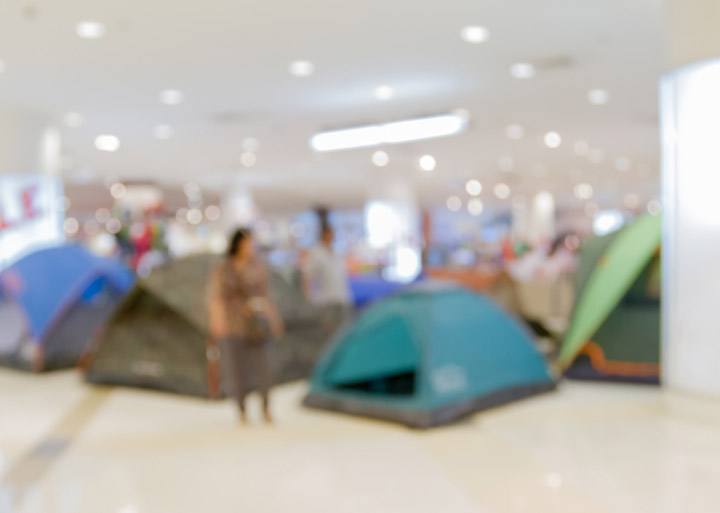 tent shopping mall
