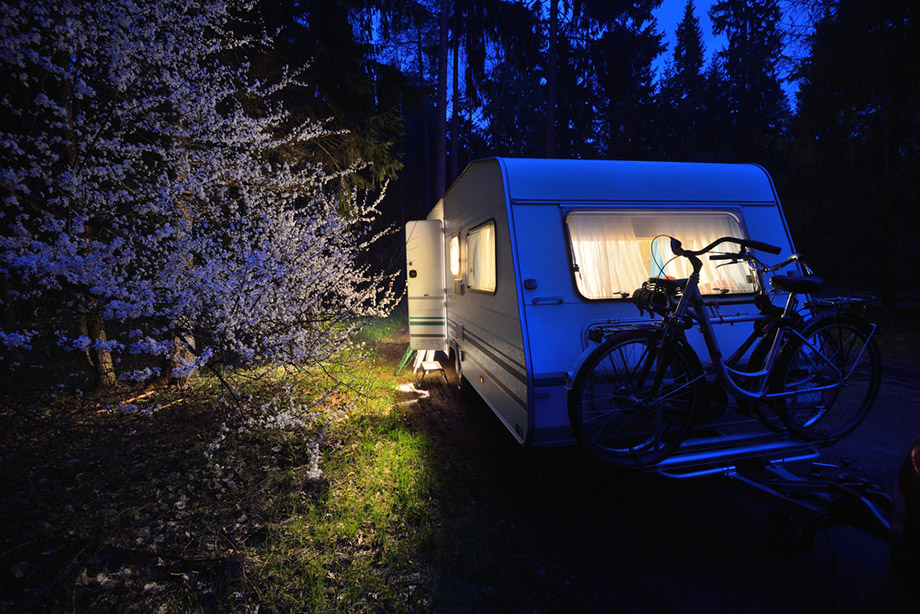 Campervan with electricity