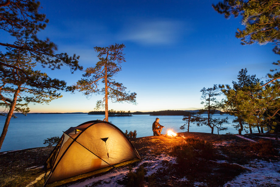 Cold Climate Camping By Fire