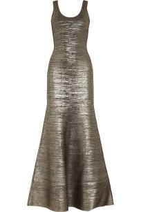 HERVÉ LÉGEREllen metallic bandage gown