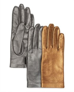 Bloomingdale's Metallic Leather Driver Gloves