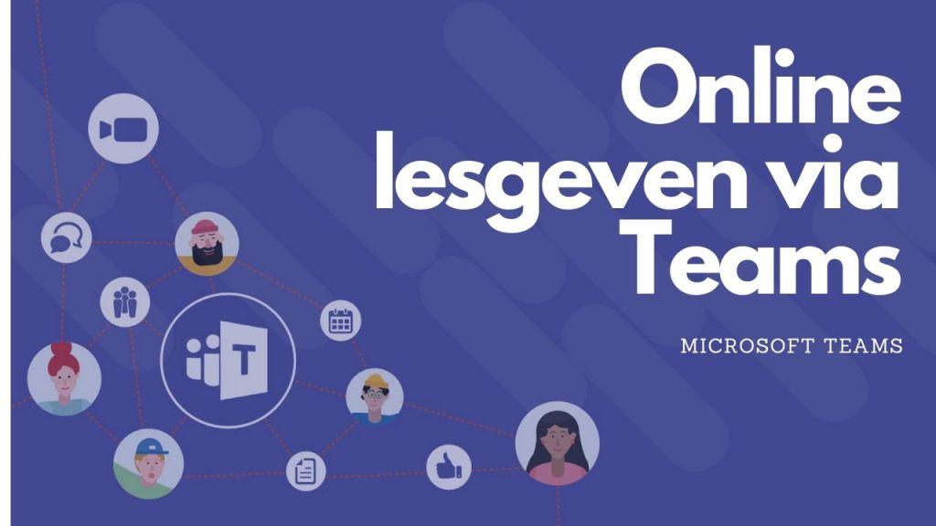 Een online les organiseren via Microsoft Teams