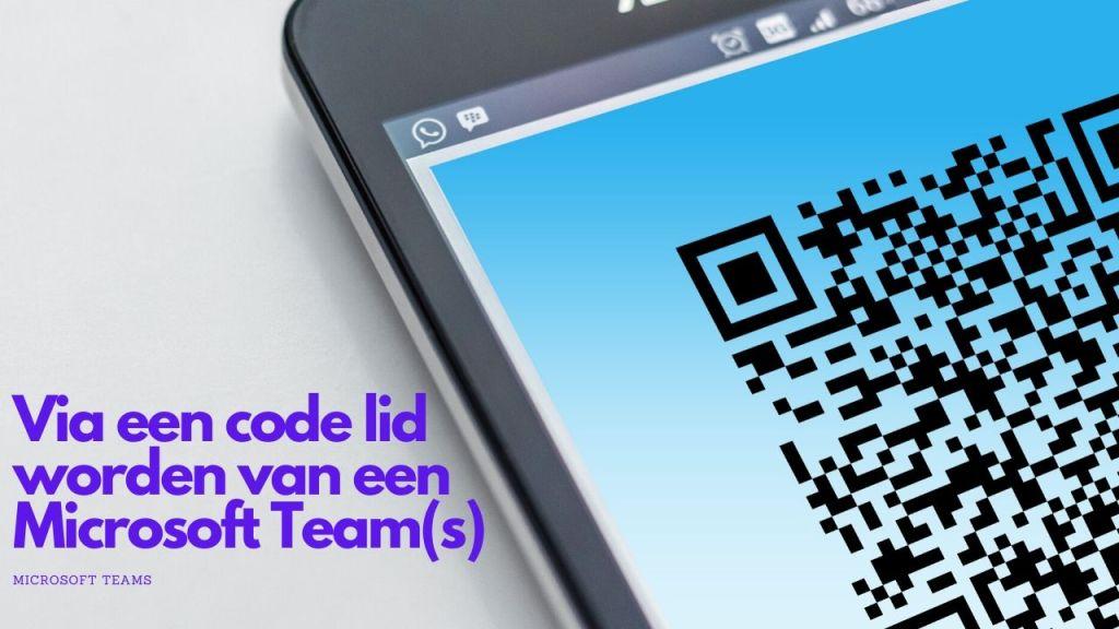 Een code ophalen om lid te worden van een Team (binnen Microsoft Teams)