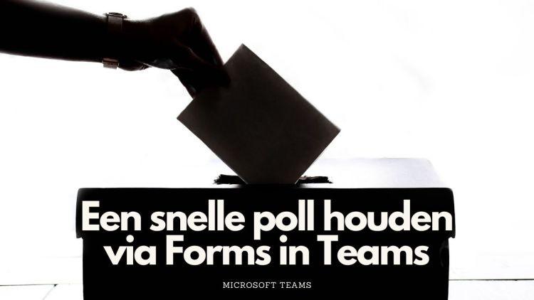 Een korte poll rechtstreeks in je Teams plaatsen