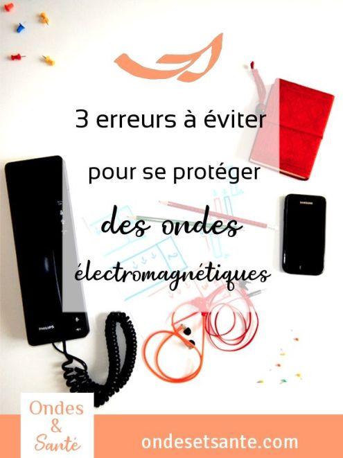 Utilisez-vous un téléphone fixe sans fil ? un kit main libre ? ou un réseau internet « cpl » pour éviter la wifi ? Voici 3 erreurs à éviter pour réduire les ondes électromagnétiques et leurs dangers dans votre logement. Découvrez les 3 bonnes solutions correspondantes en lisant l'article. Pour aller plus loin vous pouvez aussi demander le guide gratuit « Réduire les ondes chez vous ». #onde #danger #santé #sommeil #technologie #insomnie #mémoire #enfant #portable #wifi