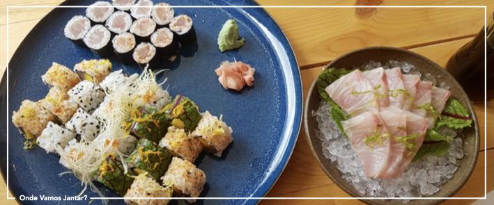 mar sushi terrace combinado e sashimi