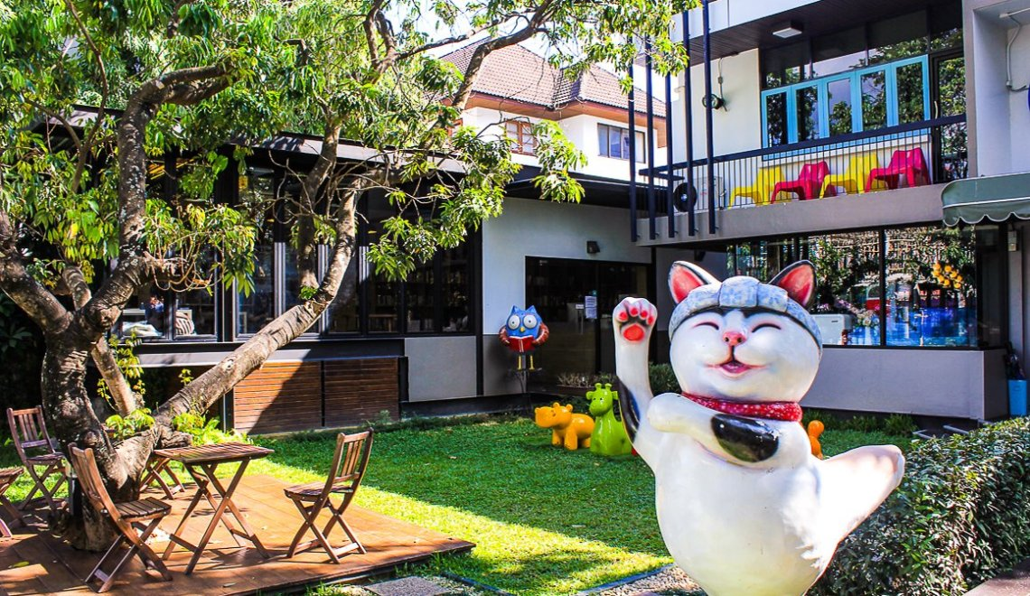 Front of Librarista Coffee Shop - Chiang Mai - Nimmanhaemin Area