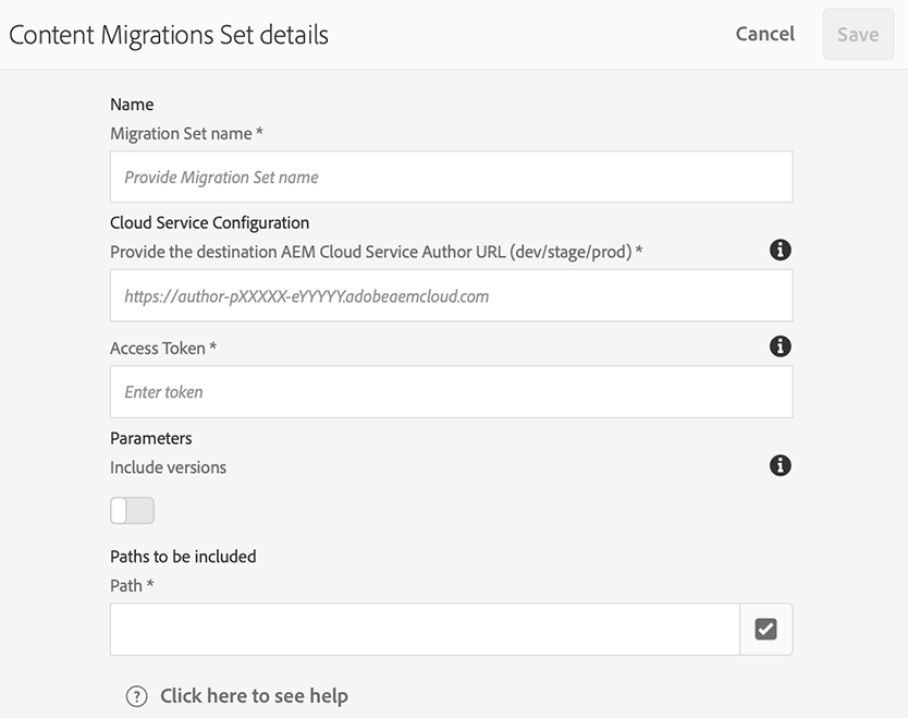 AEM CS Migration Tool