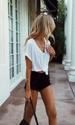 t-shirt blanc loose
