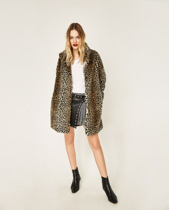 Manteau imprimé léopard Zara