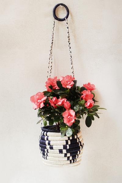 Navy Hanging Basket