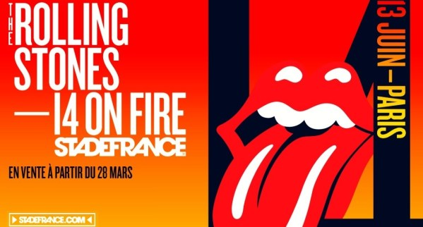 the Rolling Stones 14 on fire stade de france paris