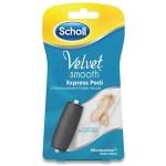 Сменные насадки для электрической роликовой пилки Scholl Velvet Smooth для педикюра (2 ролика средней жёсткости)