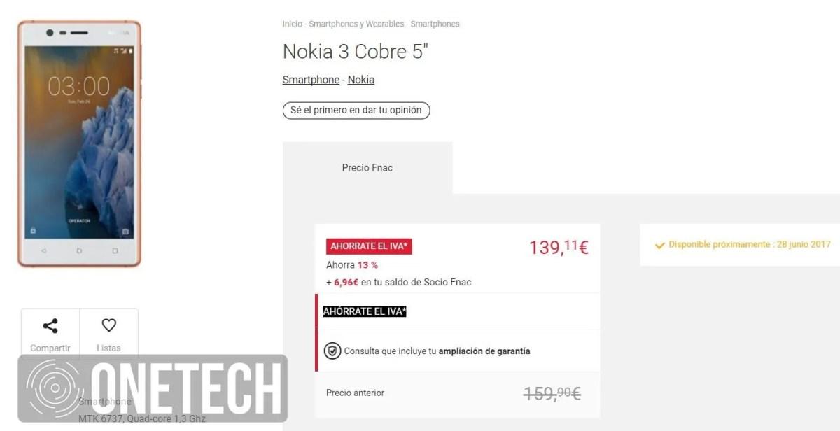 Nokia 3 en Fnac.es
