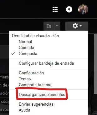 Complementos Gmail