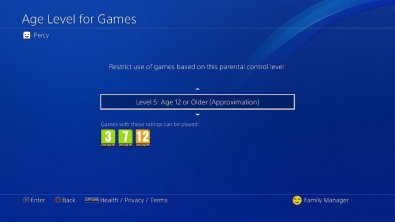 Playstation-4 Firmware-5.0-Nivel-edad