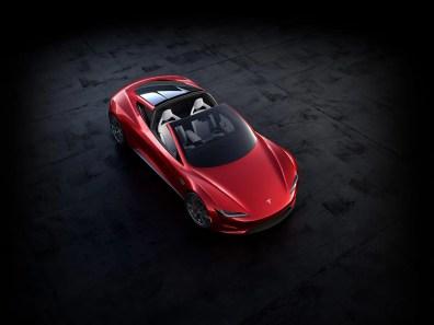 tesla roadster superior abierta