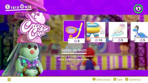 Super Mario Odyssey tienda 2