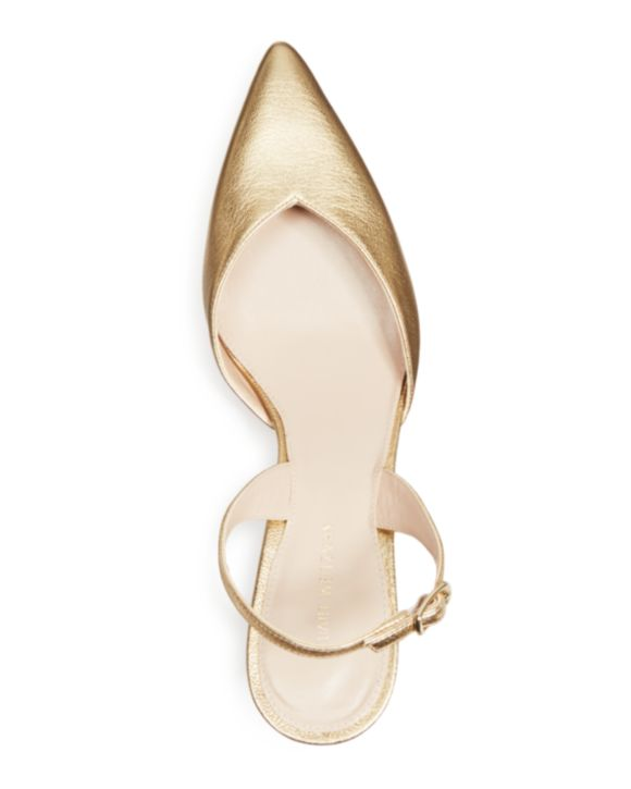 GOLD METALLIC SLINGBACK