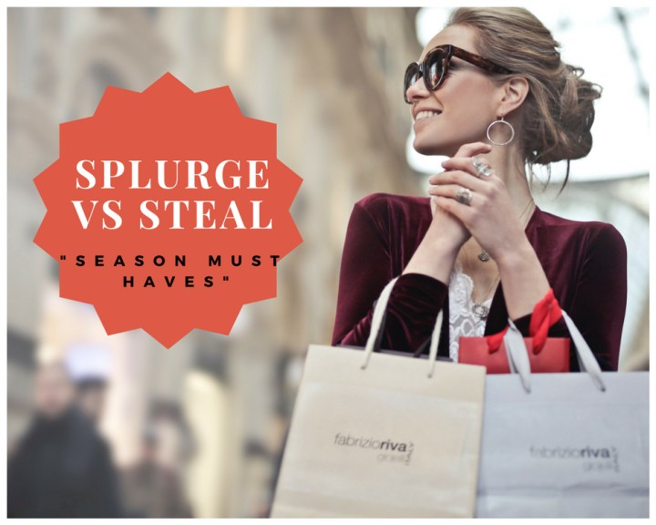 SPLURGE VS STEAL SEASON MUST HAVES