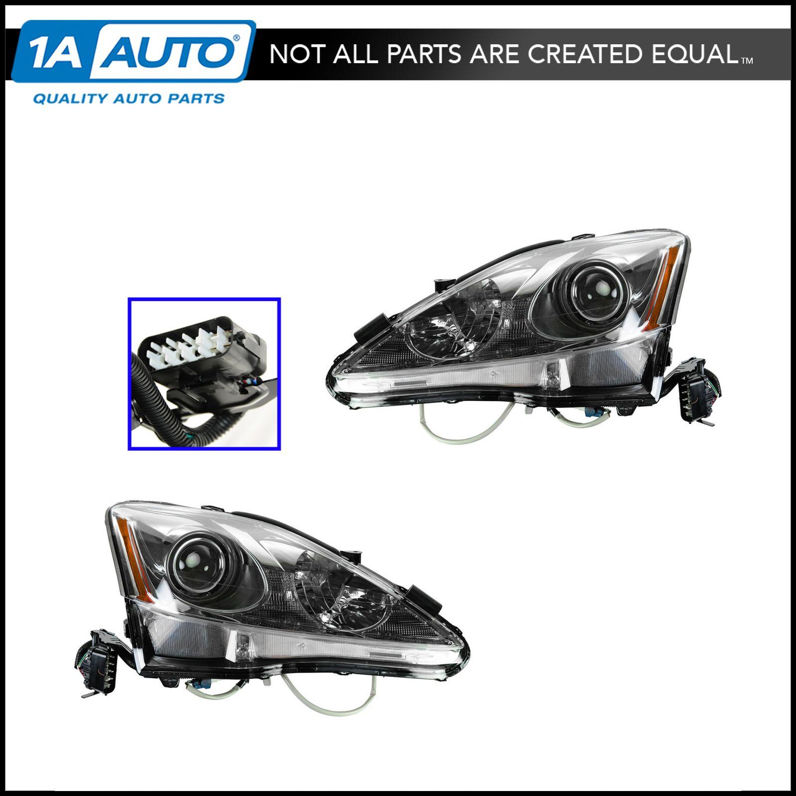 Headlights Headlamps Left Amp Right Pair Set For 11 13 Lexus