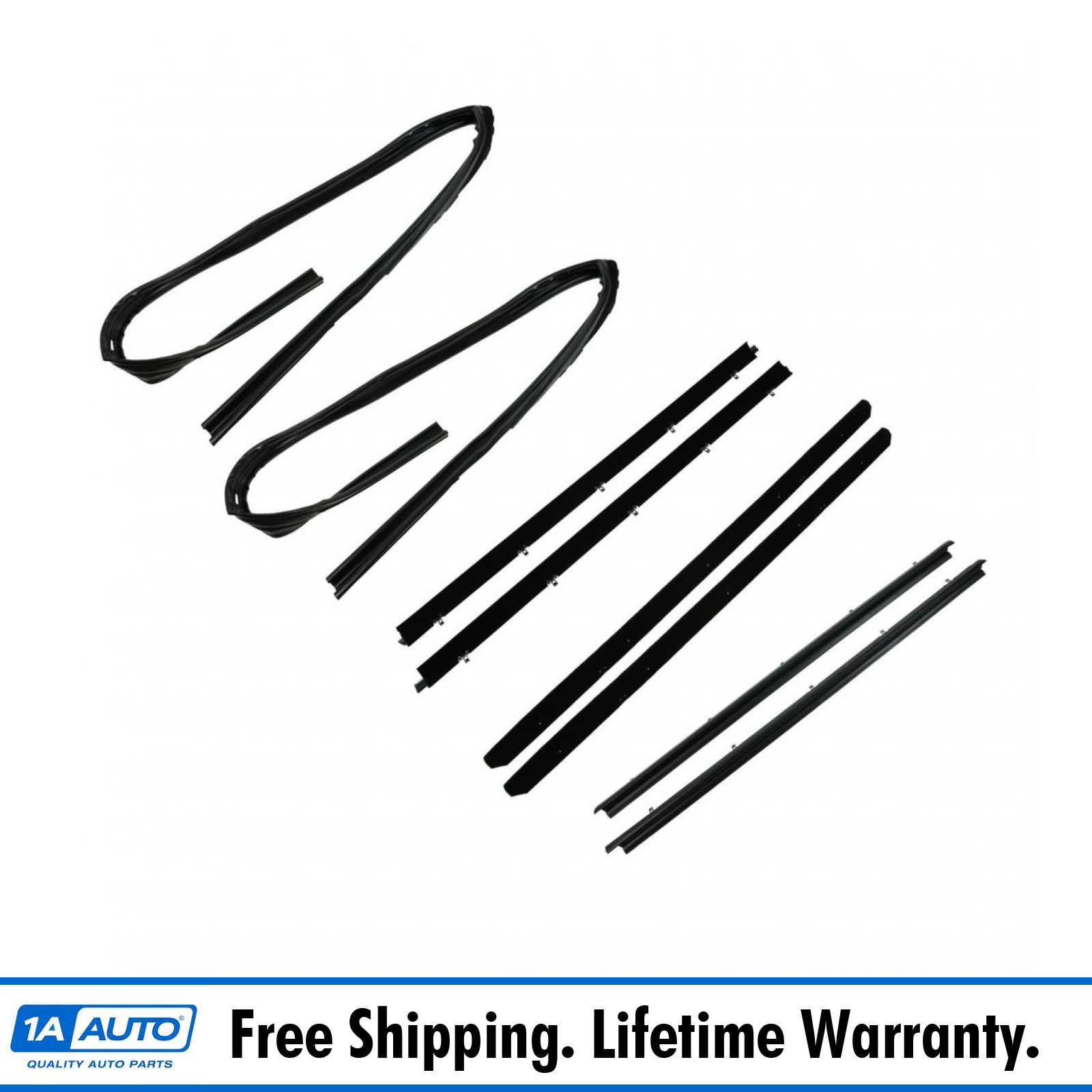 Weatherstrip Seals Kit For Black Trim For 82 93 S10 Pickup