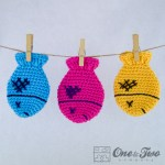 One and Two Company - Colorful Fish Coaster Free Crochet Pattern
