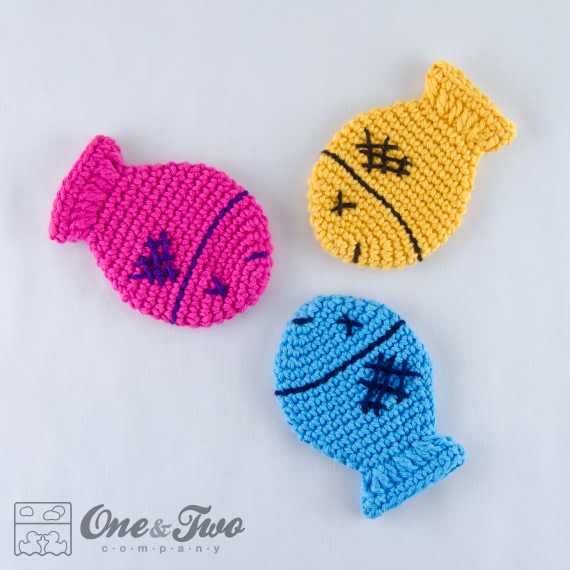 Colorful Fish Coaster Free Crochet Pattern One And Two Company
