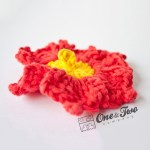 One and Two Company - Lovely Flower Free Applique Crochet Pattern