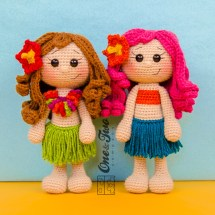 One and Two Company - Mya the Hawaiian Girl Amigurumi